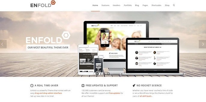 Vou die skermkiekie van WordPress-tema in