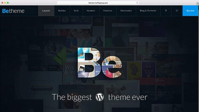 BeTheme WordPress-tema-skermkiekie